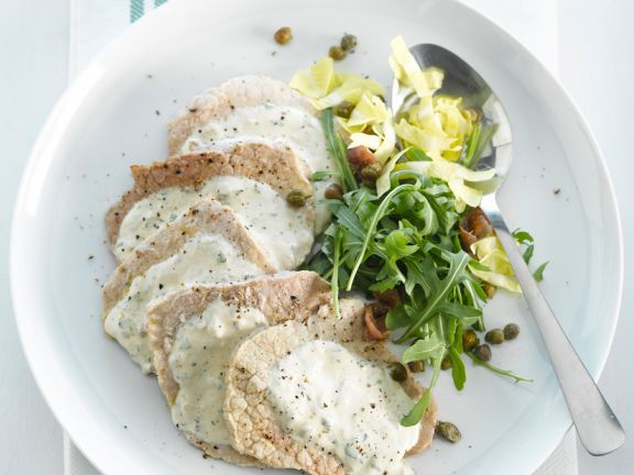 Veal with Capers and Tarragon Sauce