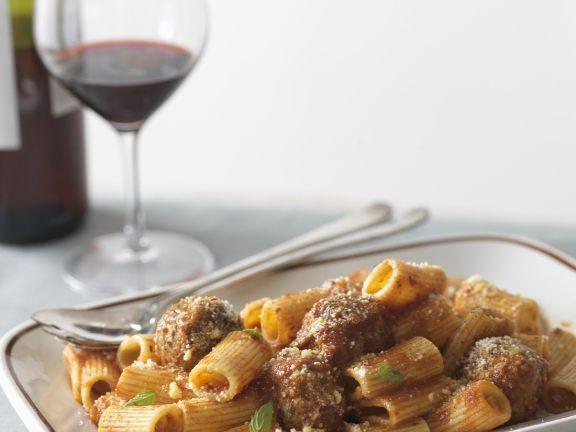 Vegan Meatballs with Pasta