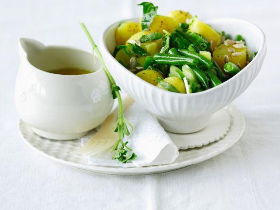 Vegan Potato-green Bean Salad
