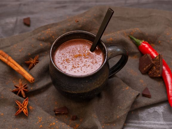 Spicy Vegan Hot Chocolate