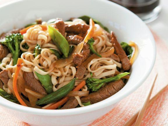 Vegetable and Beef Teriyaki Stir Fry
