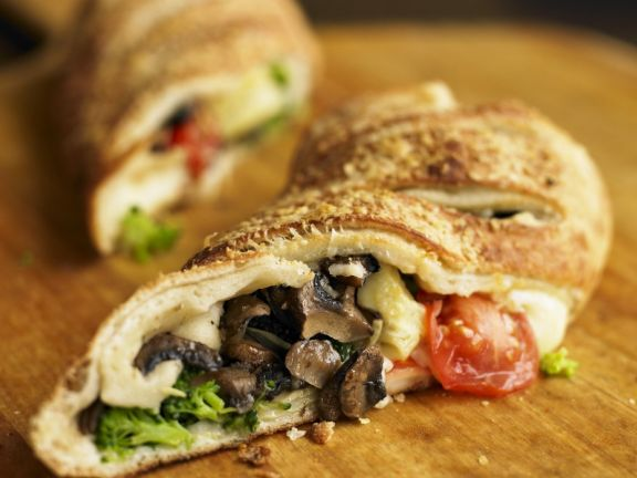 Vegetable and Cheese Filled Bread Rolls