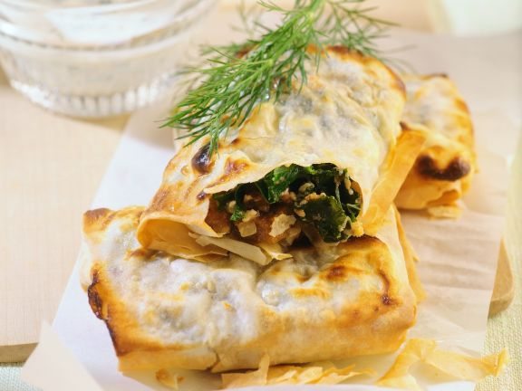 Vegetable, Feta and Walnut in Puff Pastry