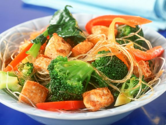 Vegetable Noodle Stir-Fry with Tofu
