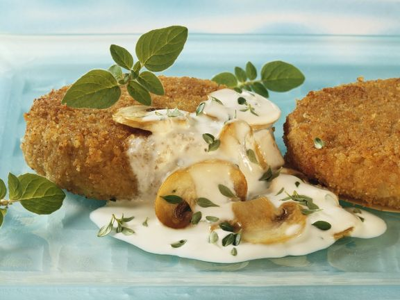 Vegetable Patties with Herb Sauce