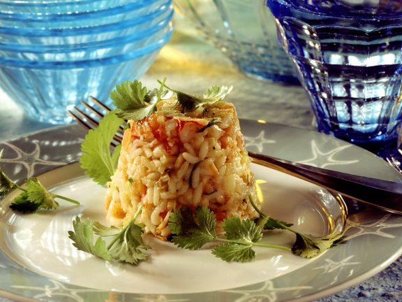 Vegetable Rice with Crab Meat