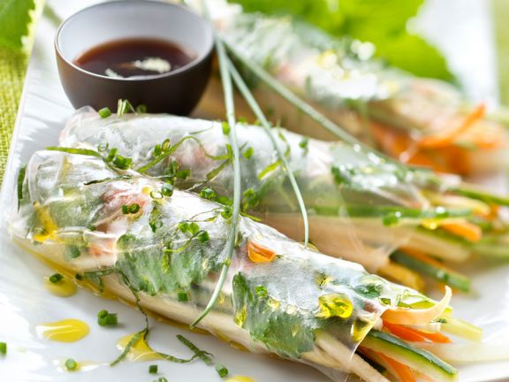 Vegetable Rolls in Rice Paper