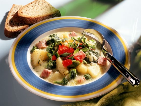 Vegetable Stew with Smoked Pork