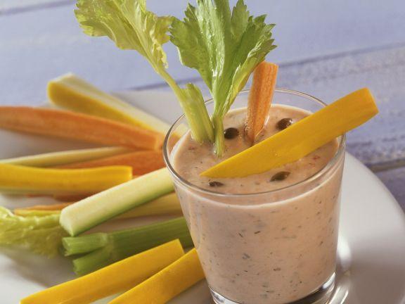 Vegetable Sticks and Tuna Dip