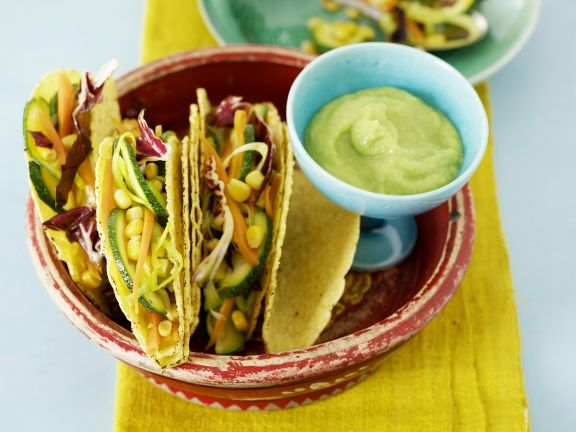 Vegetable Tacos with Guacamole