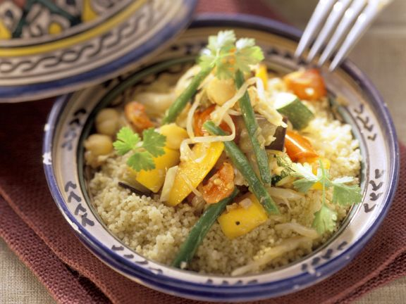 Vegetable Tajine with Couscous
