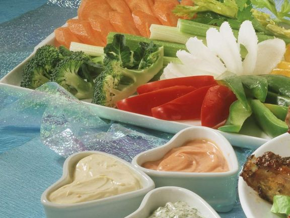Vegetables with Dips