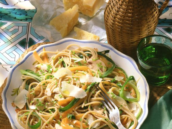 Vegetables with Whole-wheat Spaghetti