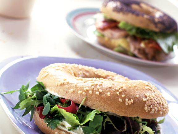 Vegetarian Bagels