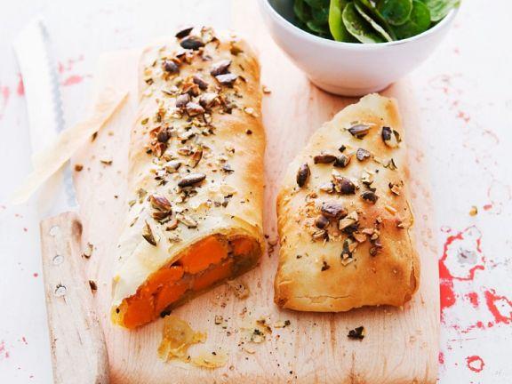 Vegetarian Filled Pastry Log