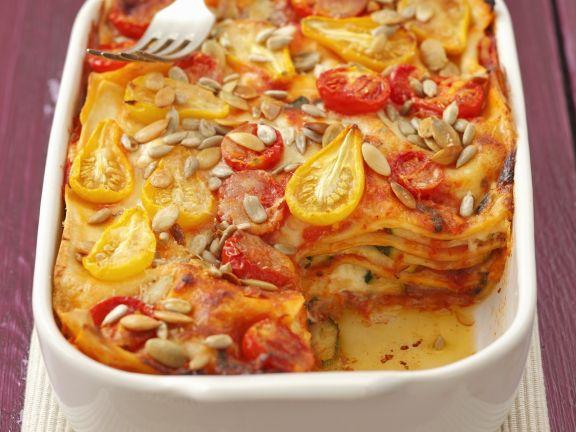 Vegetarian Pasta Bake with Pepitas