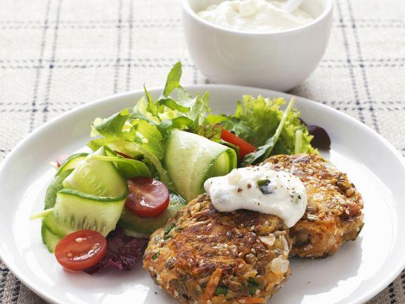 Vegetarian Patties with Sauce