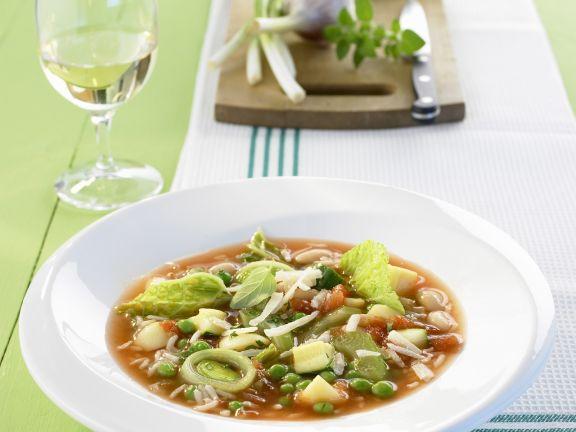 Vegetarian Rice Soup