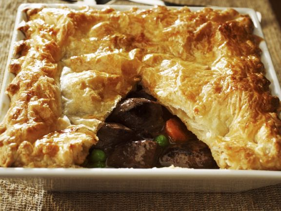 Venison and Vegetable Flaky Pie
