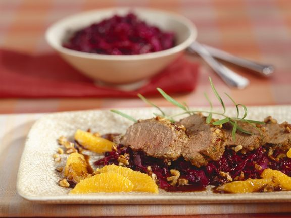 Venison Fillet with Red Cabbage