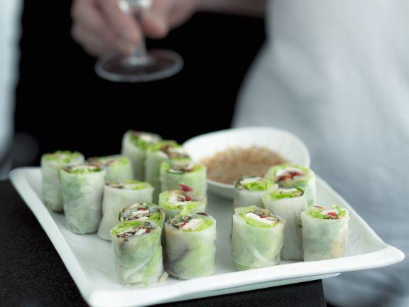 Vietnamese Summer Rolls with Sesame Dip
