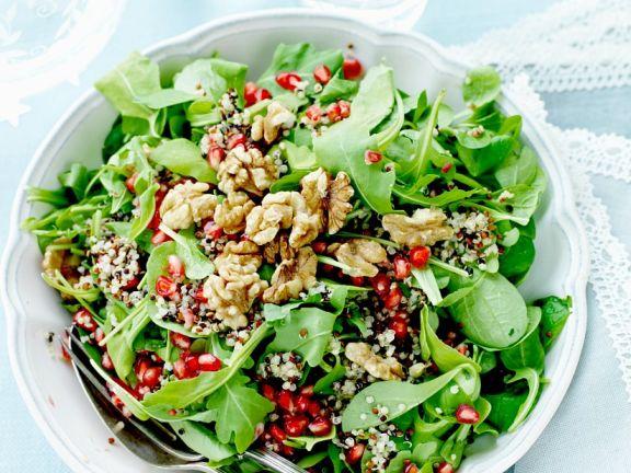 Walnut and Pomegranate Salad Bowl