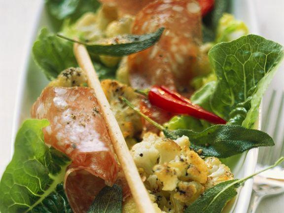 Warm Cauliflower Salad with Chorizo
