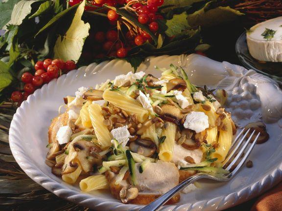 Warm Pasta Salad with Chicken