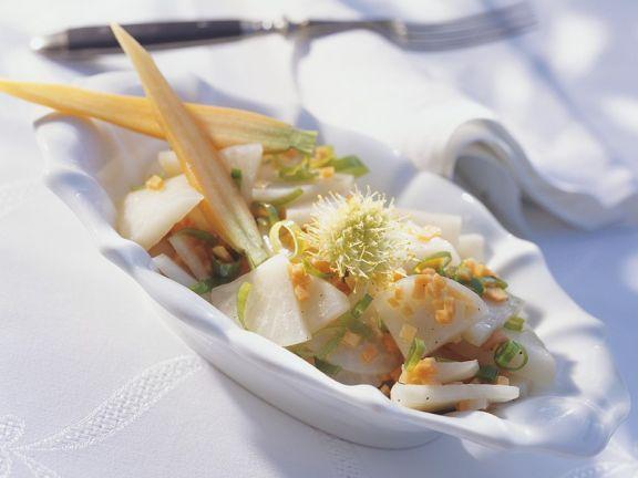 Warm Turnip-carrot Salad