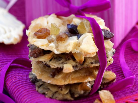White and Dark Chocolate Fruit and Almond Cookies