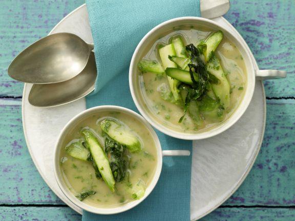 White Bean and Wild Garlic Soup