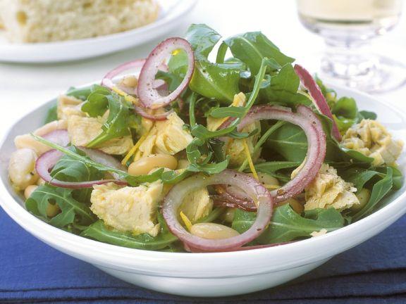White Bean Salad with Tuna and Arugula