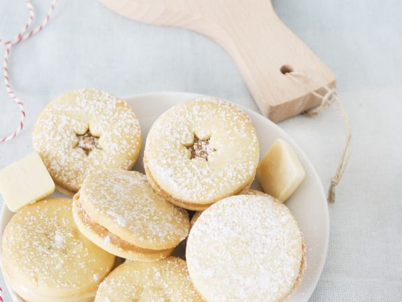 White Chocolate Sandwich Cookies