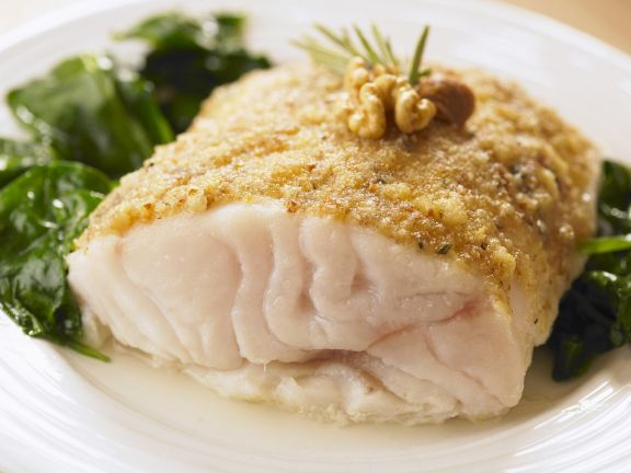 White Fish Fillet with Nut Topping