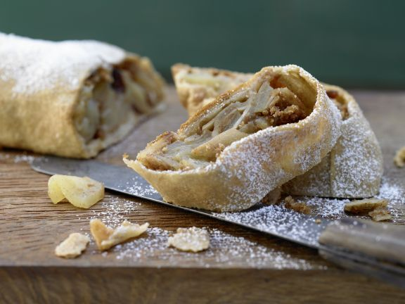 Whole-Grain Apple Strudel