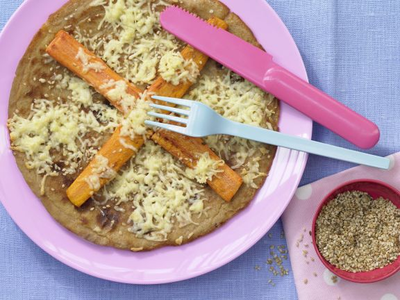 Whole-Wheat Pancakes with Carrots and Sesame Seeds