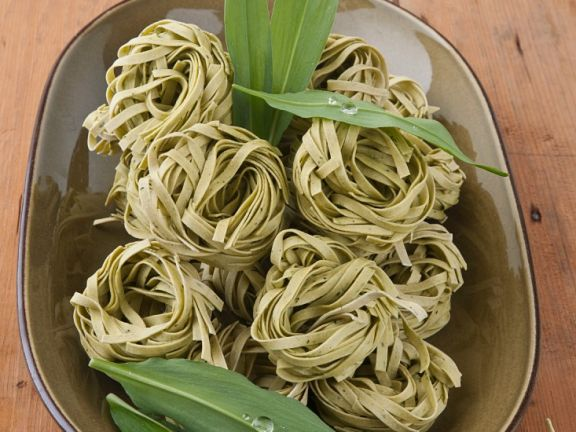 Wild Garlic Pasta Nests