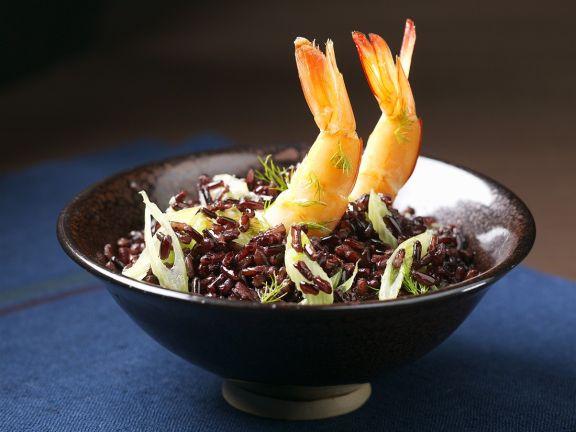 Wild Rice with Shrimp and Lemongrass