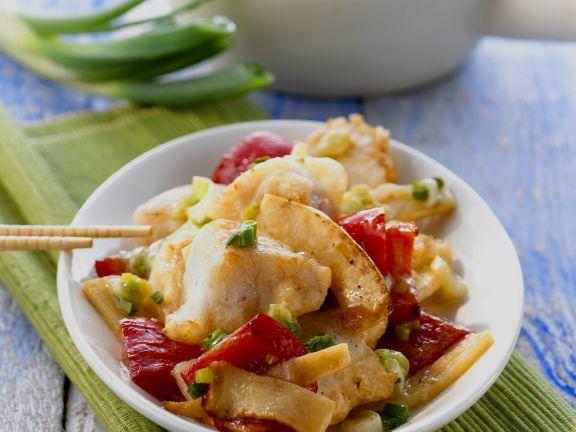 Wok-fried Cod