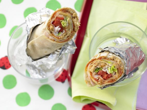 Wrap with Turkey and Peanut Butter
