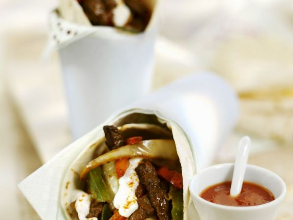 Wrapped Tortillas with Beef