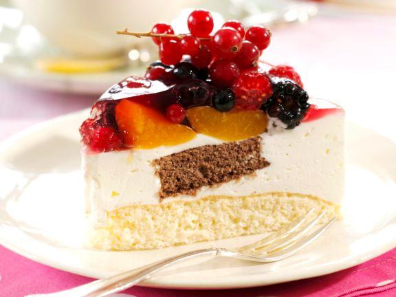 Yogurt Cake with Mixed Fruits