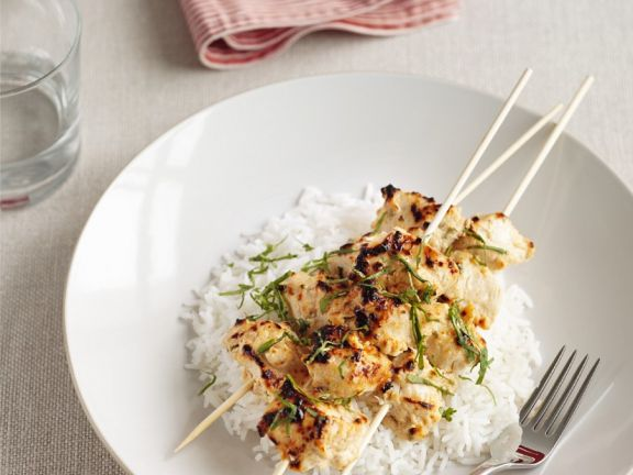 Zesty Chicken Skewers with Rice