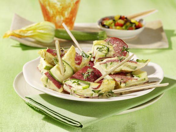 Zucchini and Salami Frittata