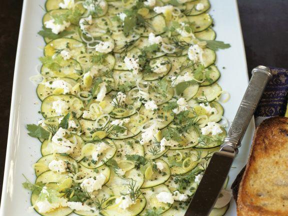 Zucchini Carpaccio with Ricotta