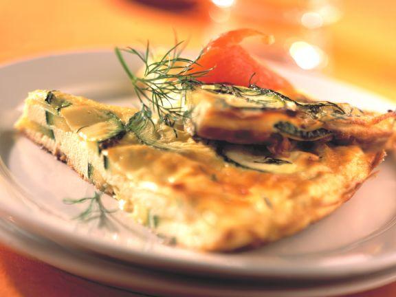 Zucchini Frittata with Smoked Salmon