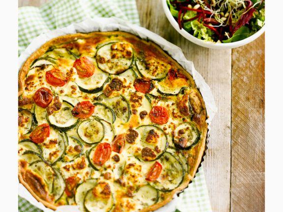 Zucchini-Goat Cheese Quiche