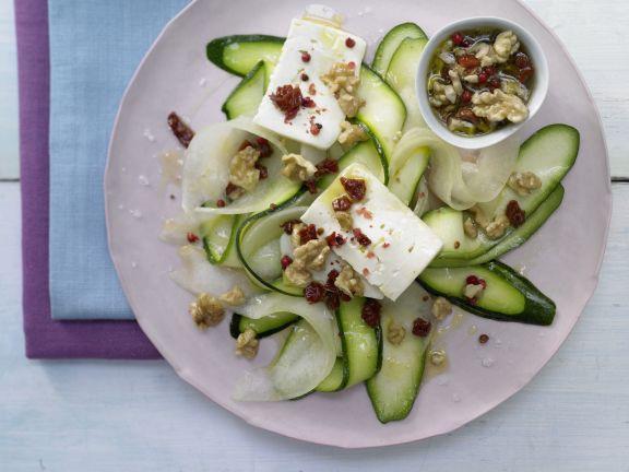 Zucchini-Melon Carpaccio