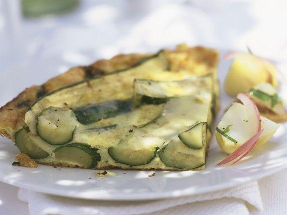 Zucchini Quark Tart