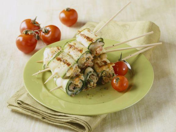 Zucchini Roll Skewers